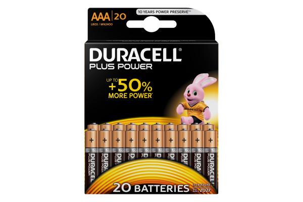 DURACELL Plus Power 4-020146 AAA/LR03 20 Stück