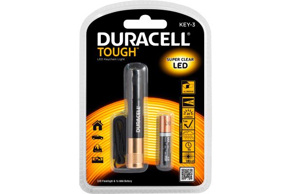 DURACELL Taschenlampe Key 3 Tough 4-020798 inkl. 1xAAA