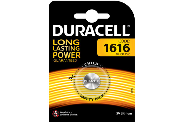 DURACELL Knopfbatterie Specialty CR1616 DL1616, 3V
