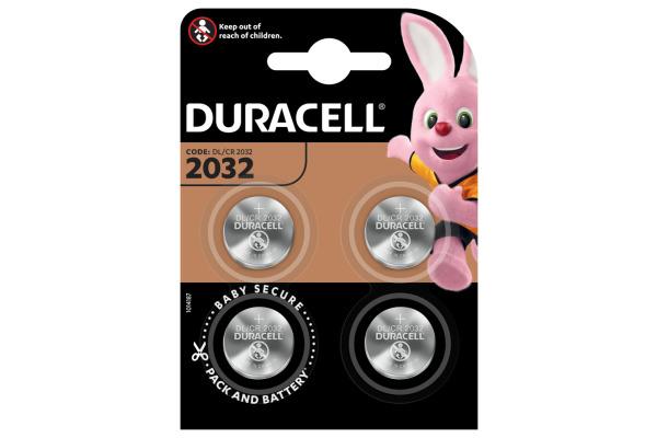 DURACELL Knopfbatterie Specialty CR2032 B2 CR2032, 3V 4...