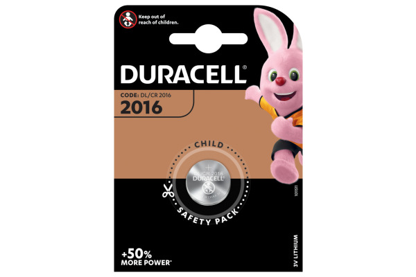 DURACELL Knopfbatterie Specialty DL2016 CD2016, 3V