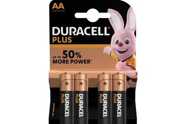 DURACELL Batterie Plus Power MN1500 AA, LR6, 1.5V 4...