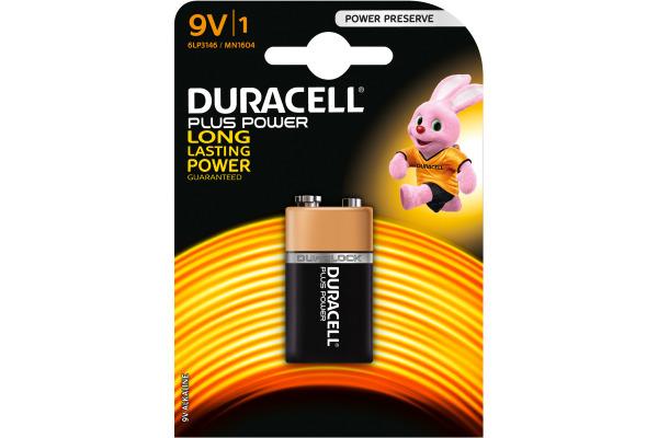 DURACELL Batterie Plus Power MN1604 6LF22, 9V