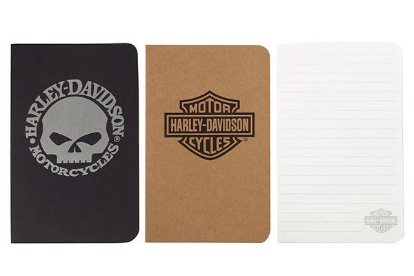 DUX Harley-Davidson Notizbücher HDNPDIS 6x Black Skull, 6x Bar&Shield