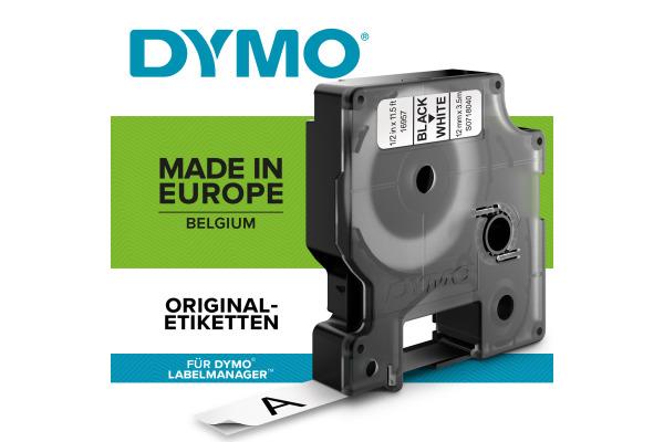 DYMO Schriftband D1 schwarz transparent S0720500 12mm 7m