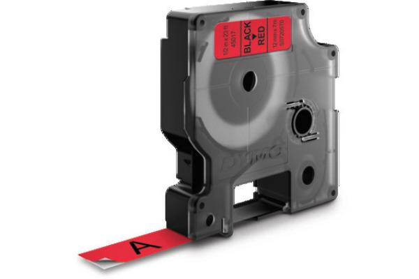 DYMO Schriftband D1 schwarz rot S0720570 12mm 7m