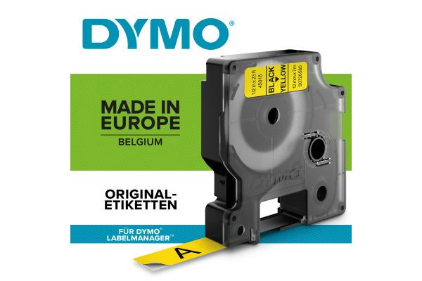 DYMO Schriftband D1 schwarz gelb S0720580 12mm 7m