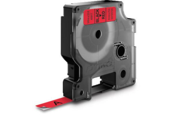 DYMO Schriftband D1 schwarz rot S0720720 9mm 7m