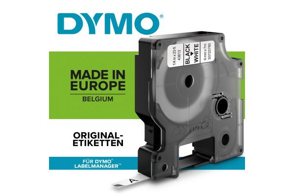 DYMO Schriftband D1 schwarz weiss S0720780 6mm 7m