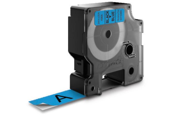 DYMO Schriftband D1 S0720860 schwarz/blau 19mm/7m