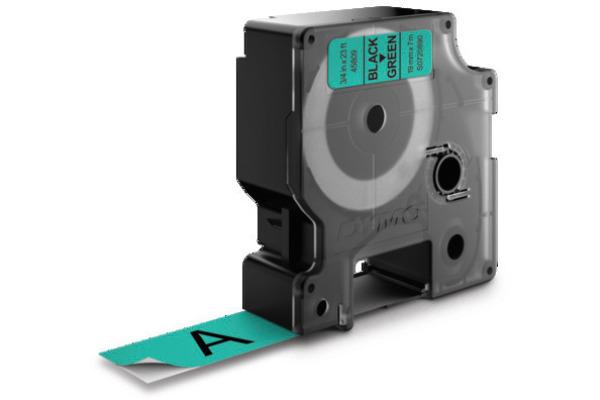 DYMO Schriftband D1 S0720890 schwarz/grün 19mm/7m