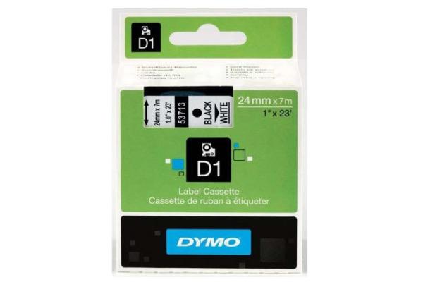 DYMO Schriftband D1 schwarz weiss S0720930 24mm 7m