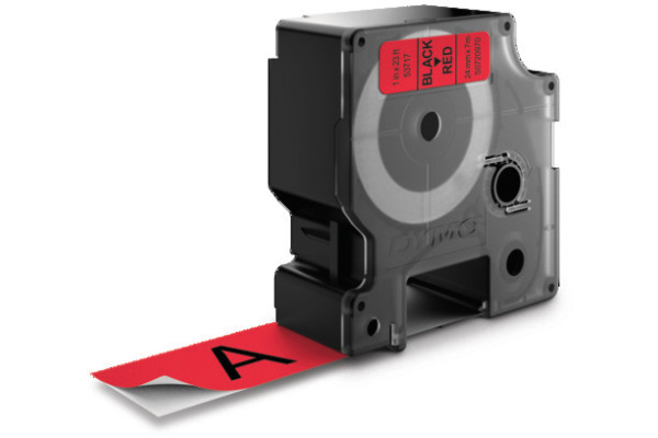 DYMO Schriftband D1 S0720970 schwarz rot 24mm 7m