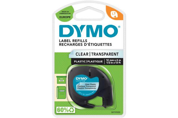 DYMO Schriftband LetraTag 12mmx4m S0721530 schwarz transparent