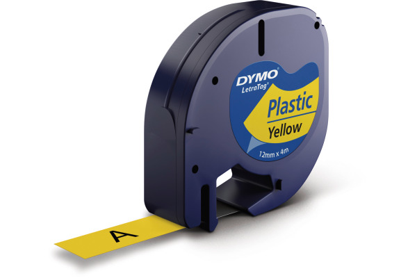 DYMO Schriftband LetraTag gelb S0721670 Plastik 12mmx4m
