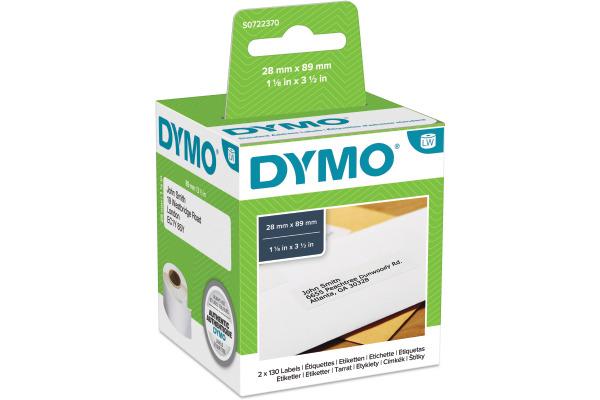 DYMO Adress-Etiketten S0722370 permit89x28mm 260...