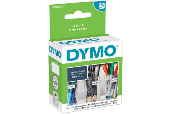 DYMO Universal-Etiketten S0722530 non-permit 25x13mm 1000...
