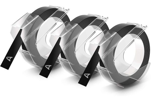 DYMO 3D-Prägeband 9mmx3m S0847730 schwarz 3...