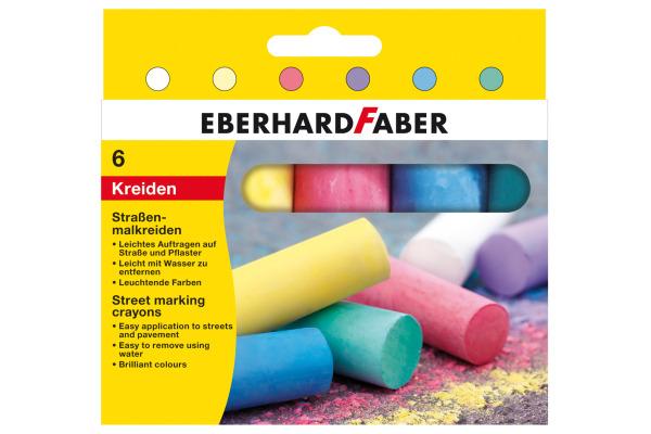 EBERHARD FABER Strassenkreide 526506 6 Farben assortiert Etui