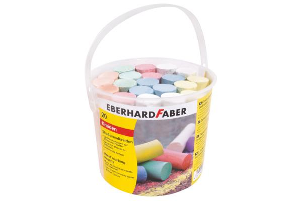 EBERHARD FABER Strassenkreide 526512 6 Farben assortiert...