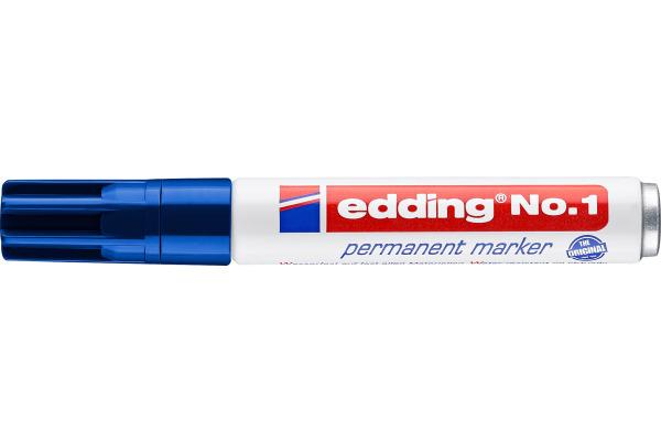 EDDING Permanent Marker No. 1 1-5mm 1-3 blau