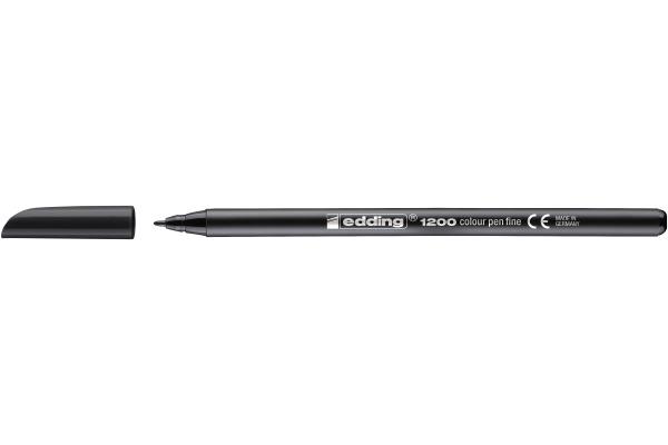 EDDING Faserschreiber 1200 0.5-1mm 1200-1 schwarz