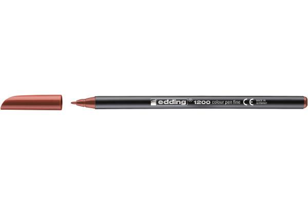 EDDING Faserschreiber 1200 0,5-1mm 1200-7 braun