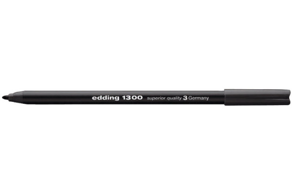EDDING Fasermaler 1300 color pen 2mm 1300-1 schwarz