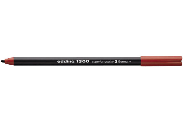 EDDING Fasermaler 1300 color pen 2mm 1300-2 rot