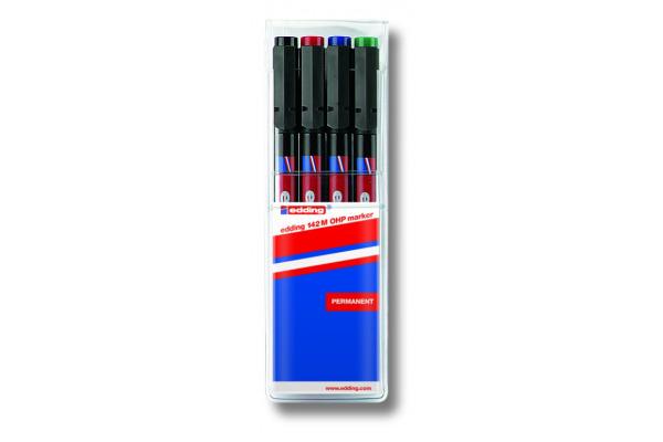 EDDING OHP-Marker permanent M 142-E4 4er Etui