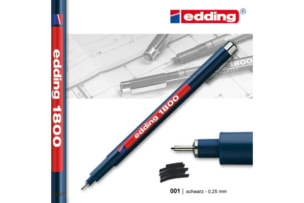 EDDING Profipen 1800 0.10-0.25mm 1800-1-01 schwarz