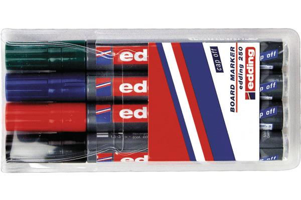 EDDING Boardmarker 250 250-E4 4 Farben ass.