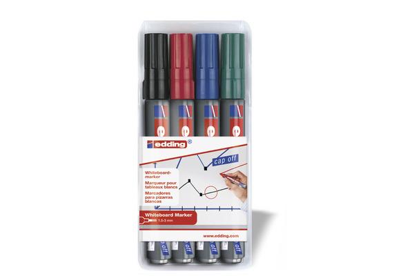 EDDING Boardmarker 250 1.5-3mm 250BLI-1234 4 Farben...