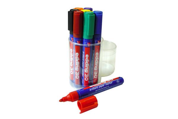 EDDING Permanent Marker 30 30-E8 8 Farben assortiert