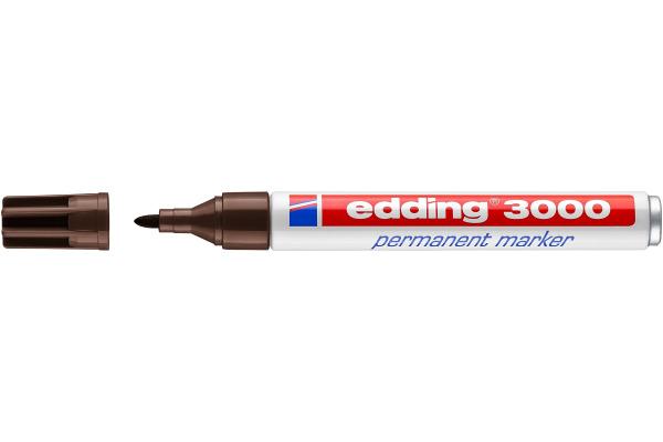 EDDING Permanent Marker 3000 1,5-3mm 3000-18 dunkelbraun