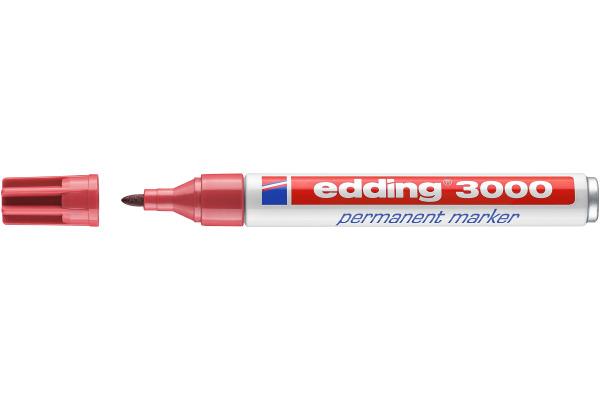 EDDING Permanent Marker 3000 1,5-3mm 3000-19 karmin