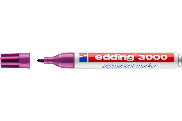 EDDING Permanent Marker 3000 1,5-3mm 3000-20 rotviolett