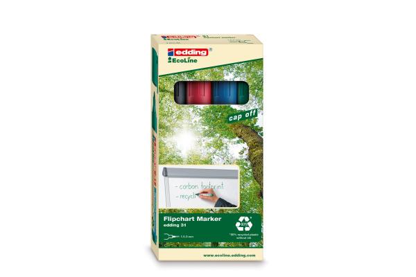 EDDING Flipchart Marker 31 1,5-3mm 31-E4 4er Etui