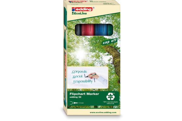 EDDING Flipchart Marker 32 1-5mm 32-E4 4er Etui
