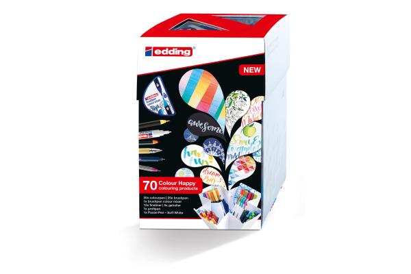 EDDING Brushpen 1340 Color Happy Box 3275 69 pcs.