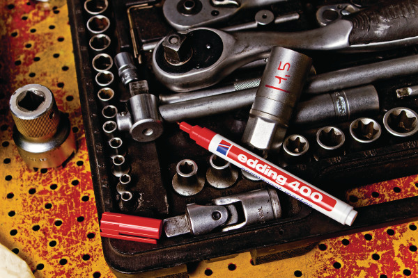 EDDING Permanent Marker 400 -1mm 400-2 rot