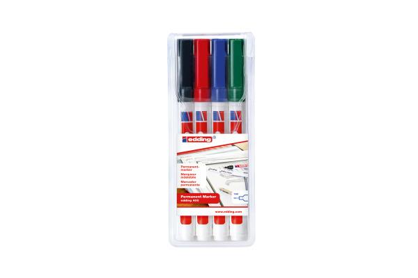 EDDING Permanent Marker 400 400-E4 4 Farben assortiert