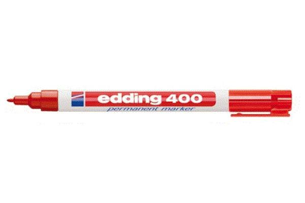 EDDING Permanent Marker 400 1mm 400BLI-2 rot Blister