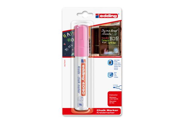 EDDING Chalk Marker 4095 4-15mm 4090BLI-69 BLI-6 neonrosa