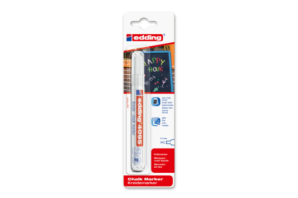 EDDING Windowmarker 4095 2-3mm 4095BLI-49 weiss Blister