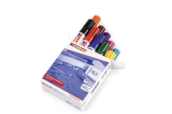 EDDING Permanent Marker 500 2-7mm 500-999 10 Farben...