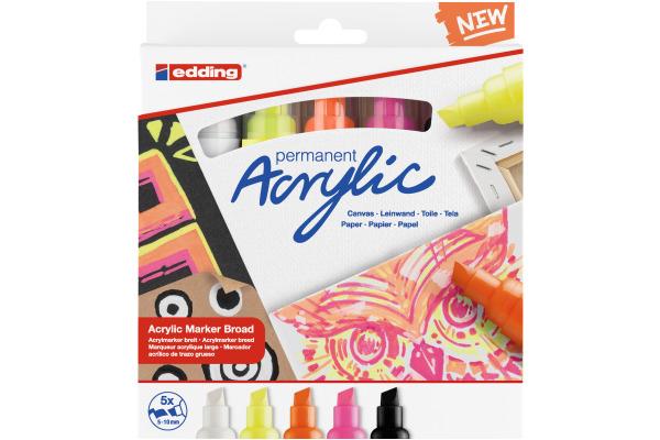 EDDING Acrylmarker 5000 5-10mm 5000-E5-neon neon,...