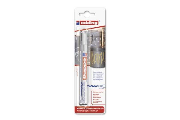 EDDING Paintmarker 750 2-4mm 750BliCrea 054 silber Blister