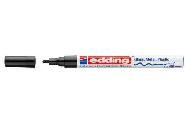 EDDING Paintmarker 751 CREA 1-2mm 751-1 CREA schwarz
