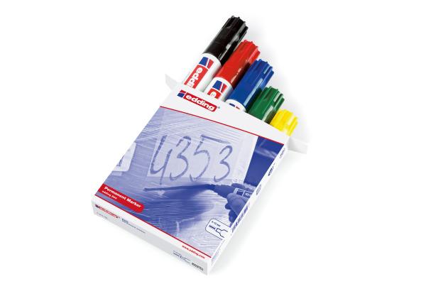 EDDING Permanent Marker 800 4-12mm 800-99 5 Farben...